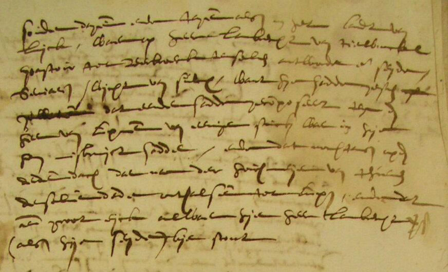 Écrits de 1609 (Archives Hasselt, photo Ria Lemmens)