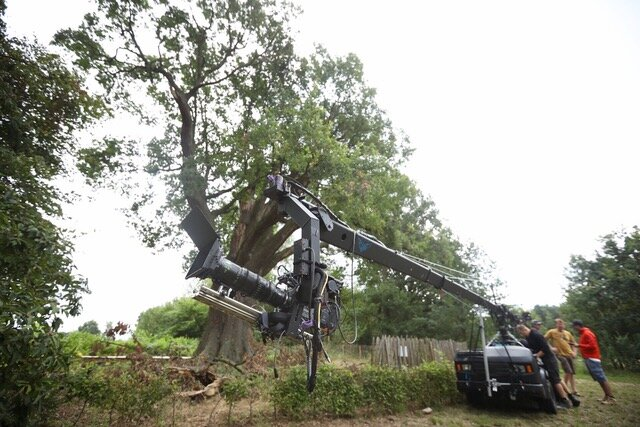 L'équipe de tournage de Notre Nature  au Gros Chêne